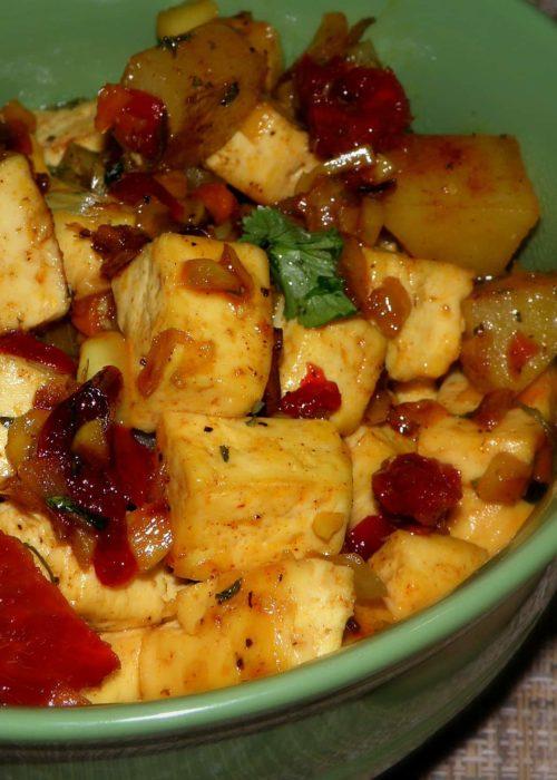 Tofu Hash with Sundried Tomatoes