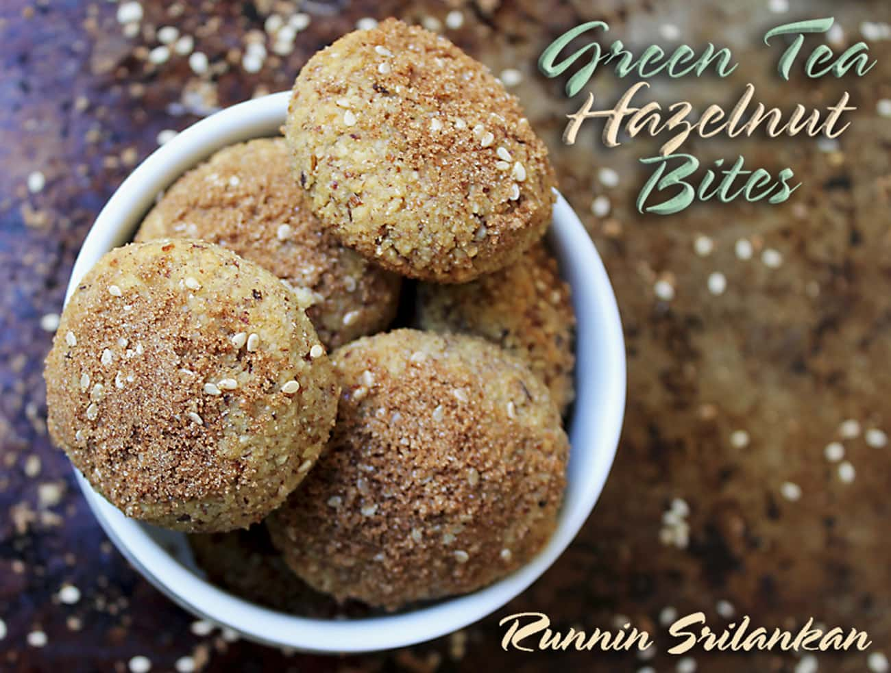 green tea hazelnut balls