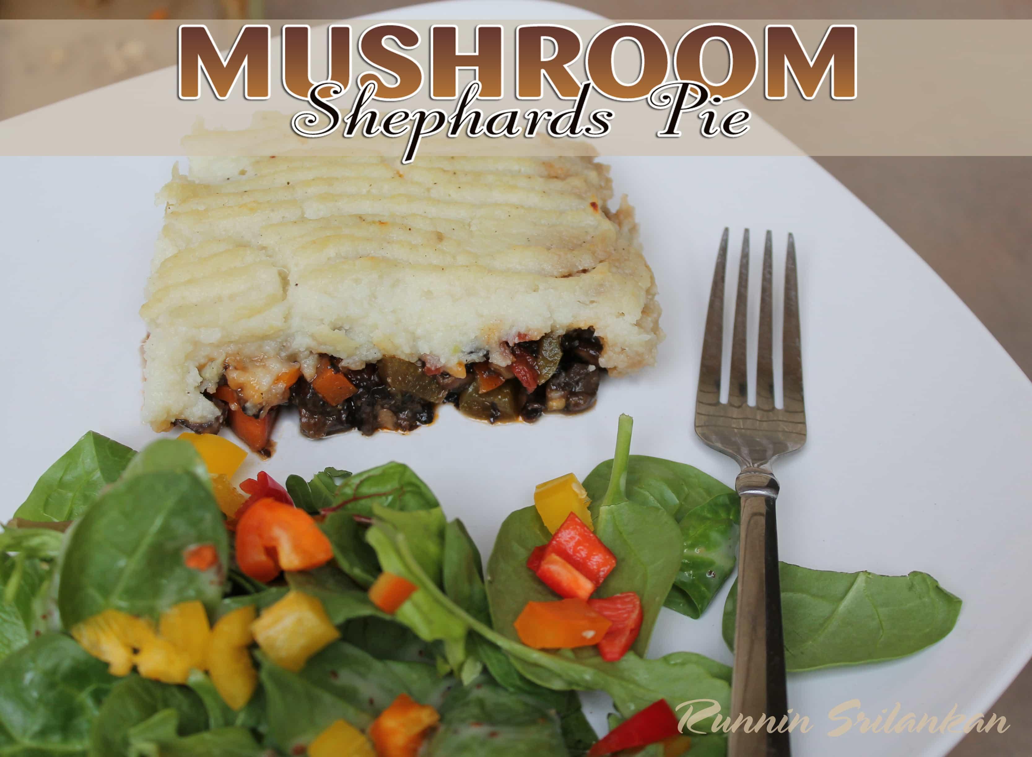 shephards pie with portebello mushrooms