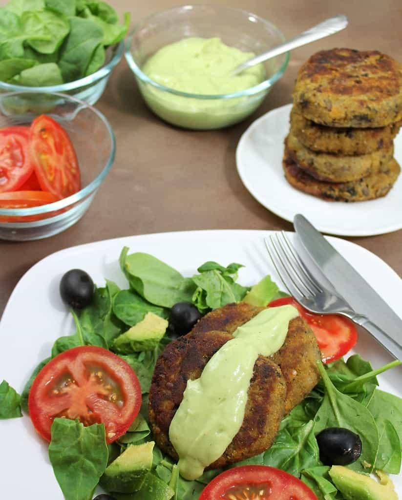 mushroom & lentil burgers