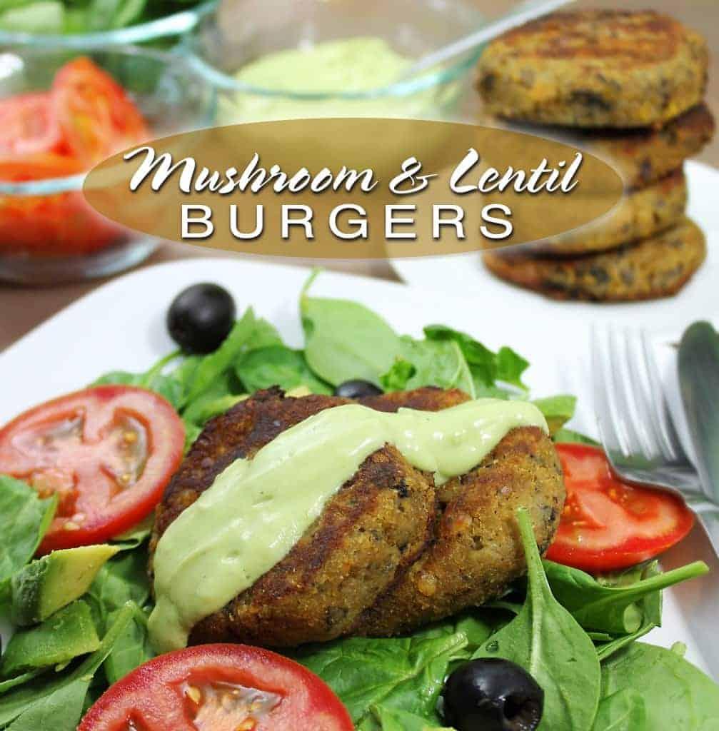 mushroomlentilburgers