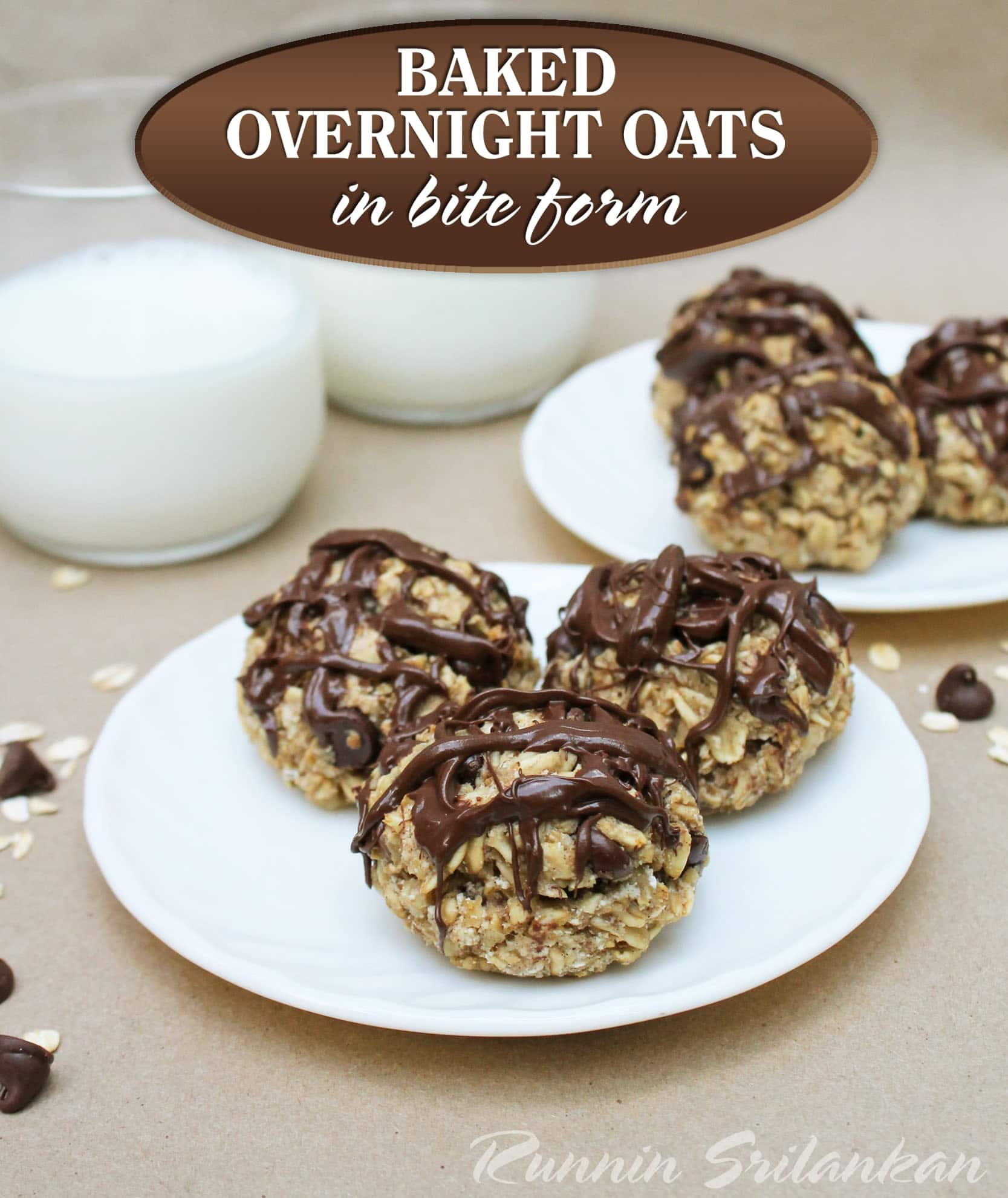 baked overnight oats in bite form