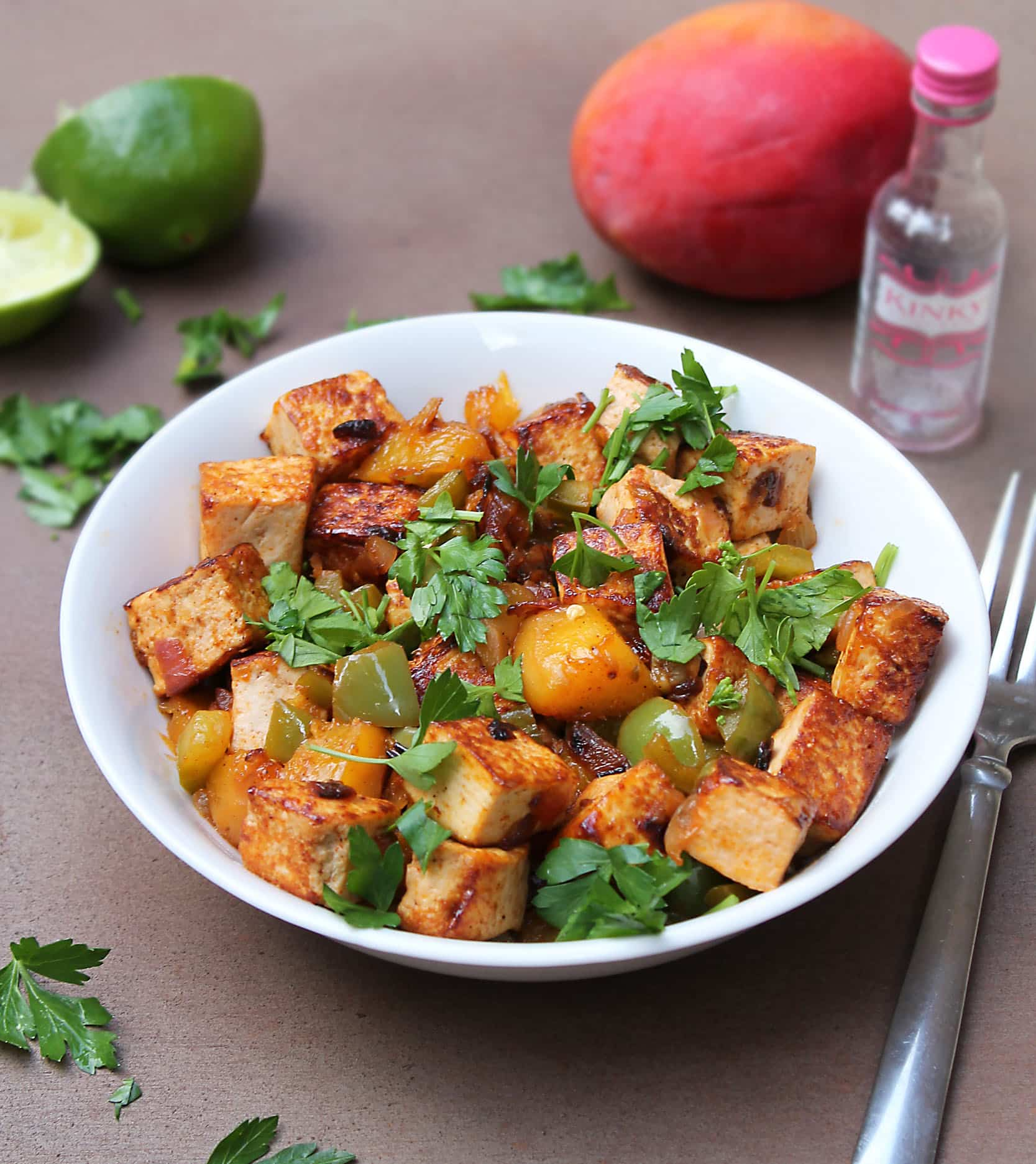 Boozy Mango Tofu!