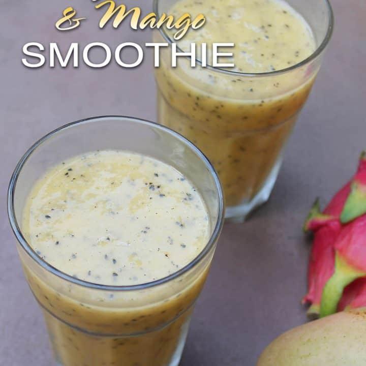Dragonfruit And Mango Smoothie
