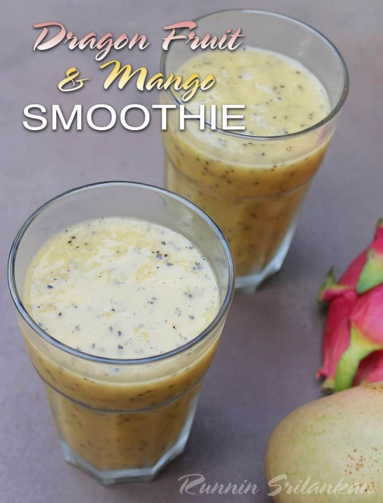dragonfruit and mango smoothie