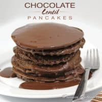 Chocolate Lentil Pancakes