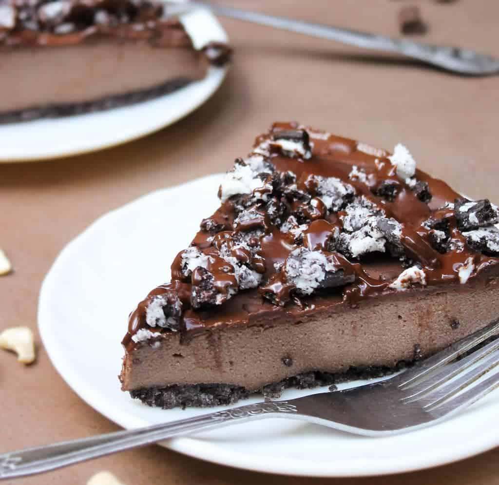 non dairy no bake cashew cake slice