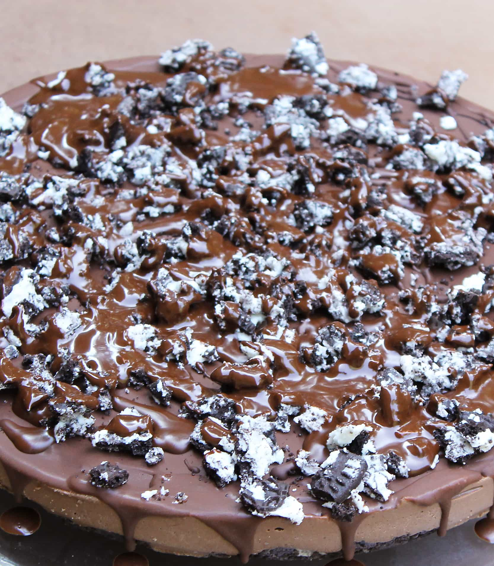 no bake refrigerated chocolate cashew cake