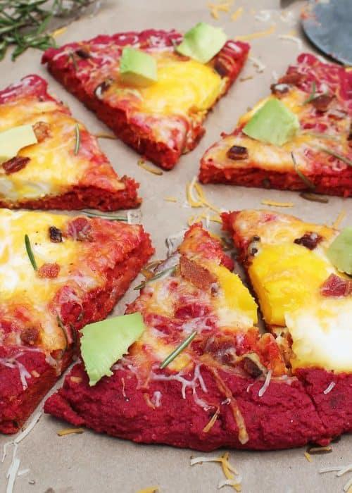 Beet Crust Breakfast Pizza