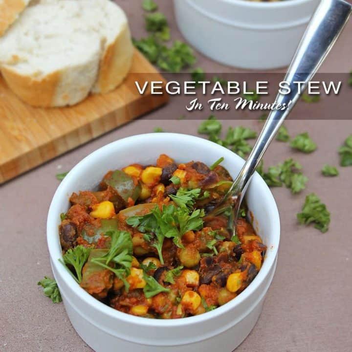 Vegetable Stew in 10 Minutes!