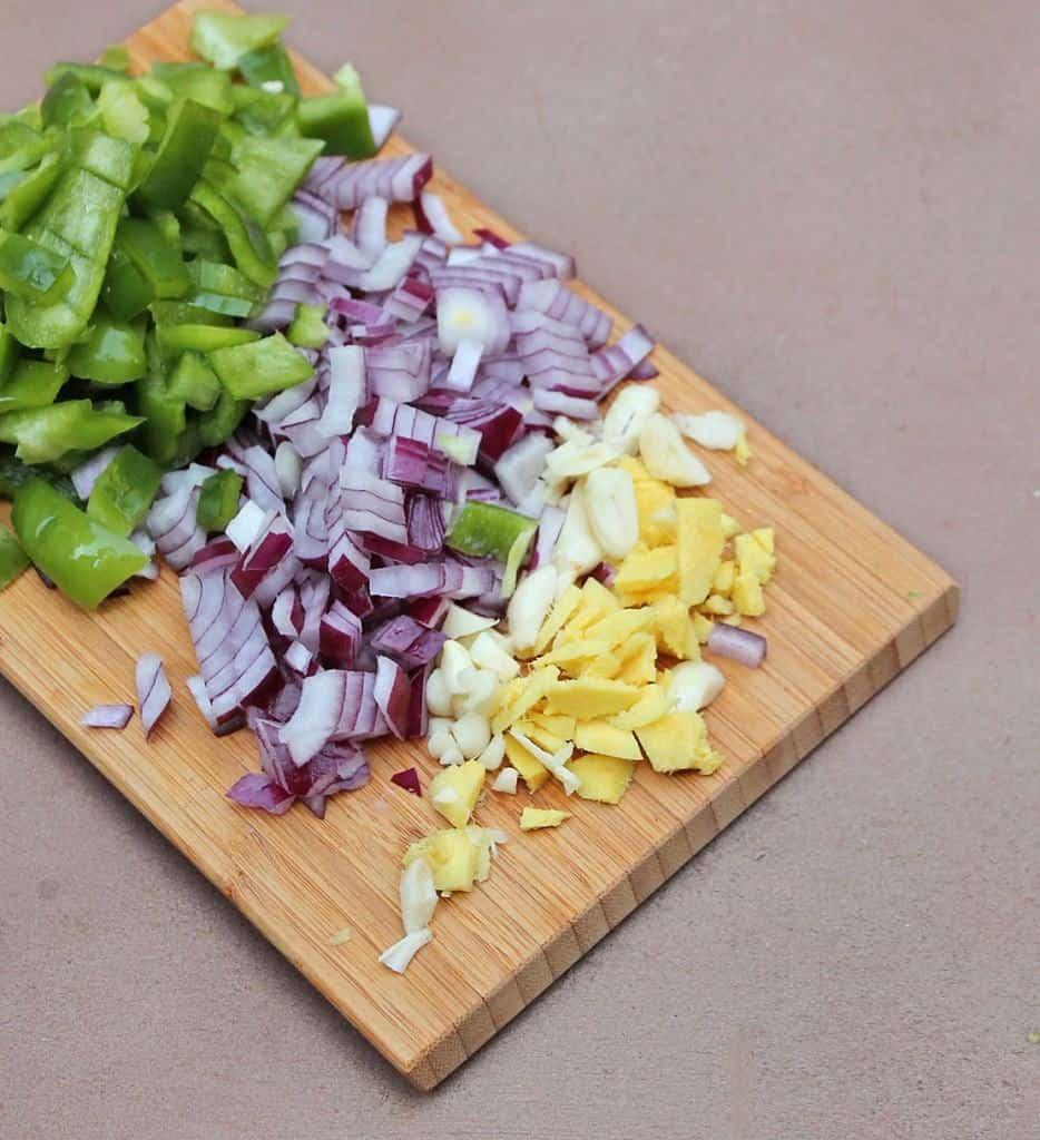 onions garlic ginger