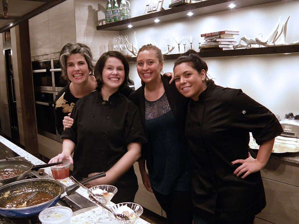 Chef Caitlin's sister, Kelly; Chef Caitlin, And her cousins