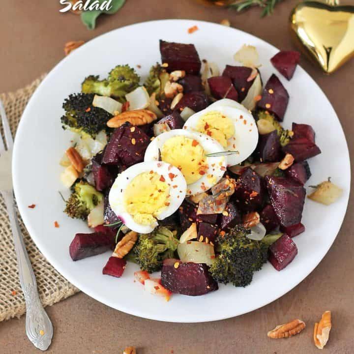 Roasted Veggie Christmas Salad