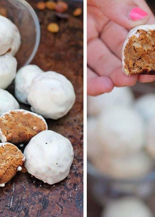 White Chocolate Sweet Potato & Raisin Bites