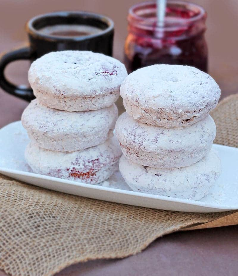 Baked Powdered Sugar Doughnuts With Beets from David @Spiced