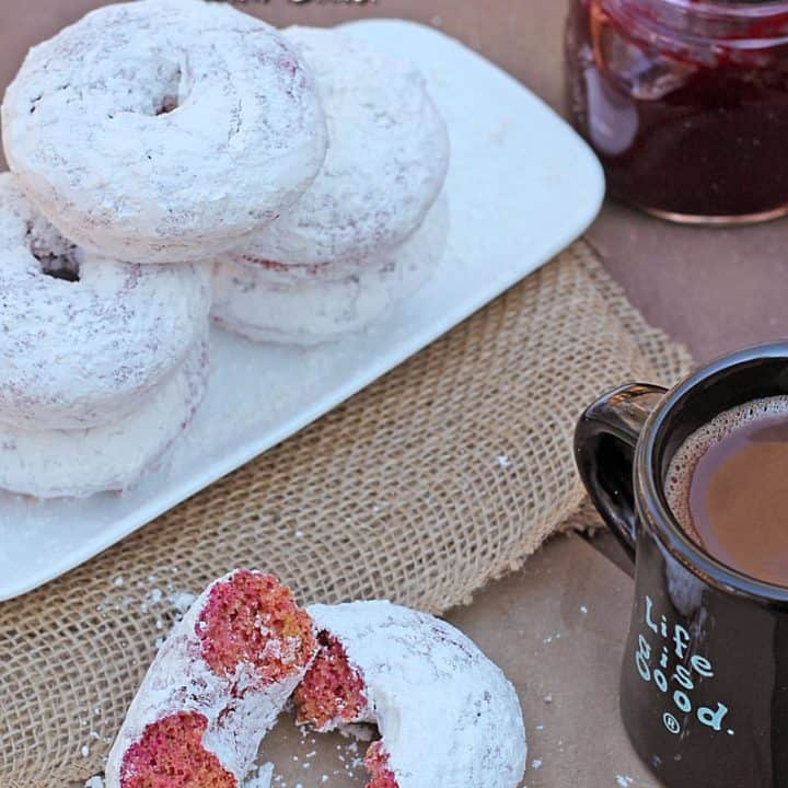 Gluten Free Baked Powdered Sugar Doughnuts {Beetified Blogger Series}