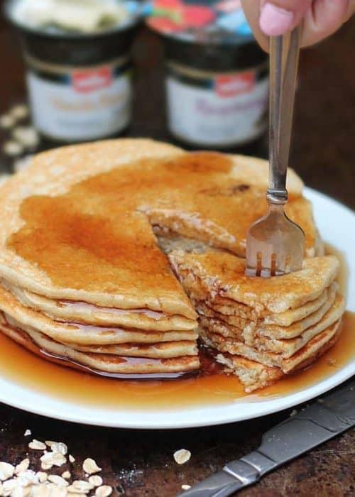 Yogurt Oatmeal Pancakes
