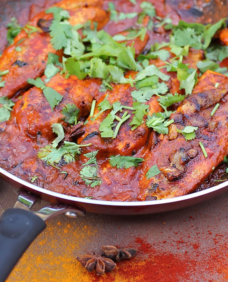 A simply rich fish curry, jam packed with spices like paprika, cumin, coriander, cayenne, turmeric and star anise! @RunninSrilankan
