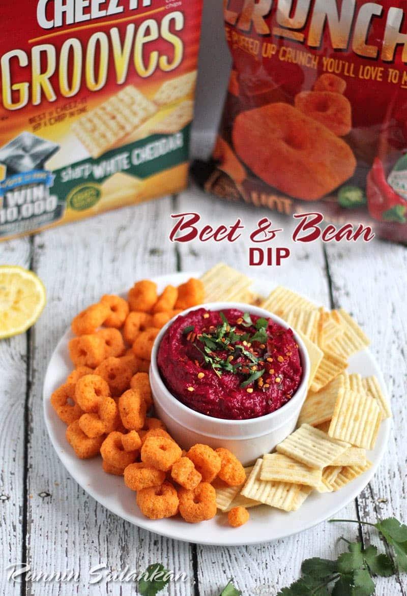 Beet-Bean-Dip-Hummus-#BigGameSnacks-@RunninSrilankan