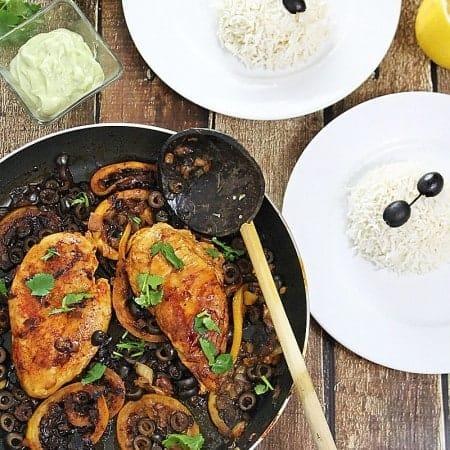 Lemon-Honey-Chicken-Wasabi-Avocado-Cream-Sauce-Vanilla-Infused-Rice-@RunninSrilankan-#BigHero6Release
