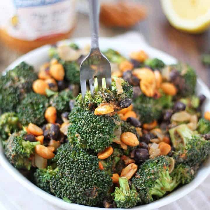 Spicy Peanutty Broccoli