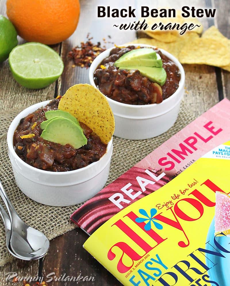 Black-bean-Stew-With-Orange-#SpringIntoMeTime-@RunninSrilankan