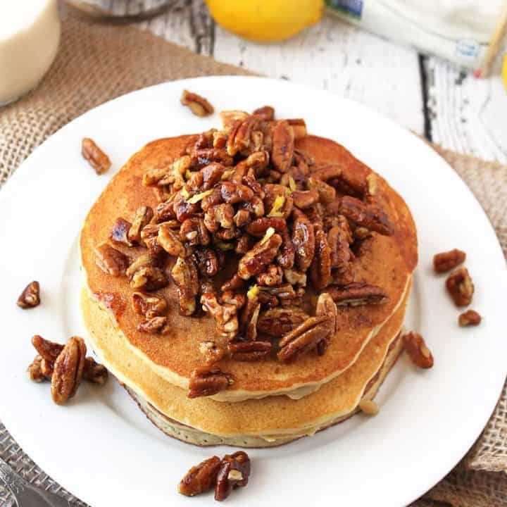 Lemon-Pecan-Pancakes-With-Silk-GlutenFree-@RunninSrilankan