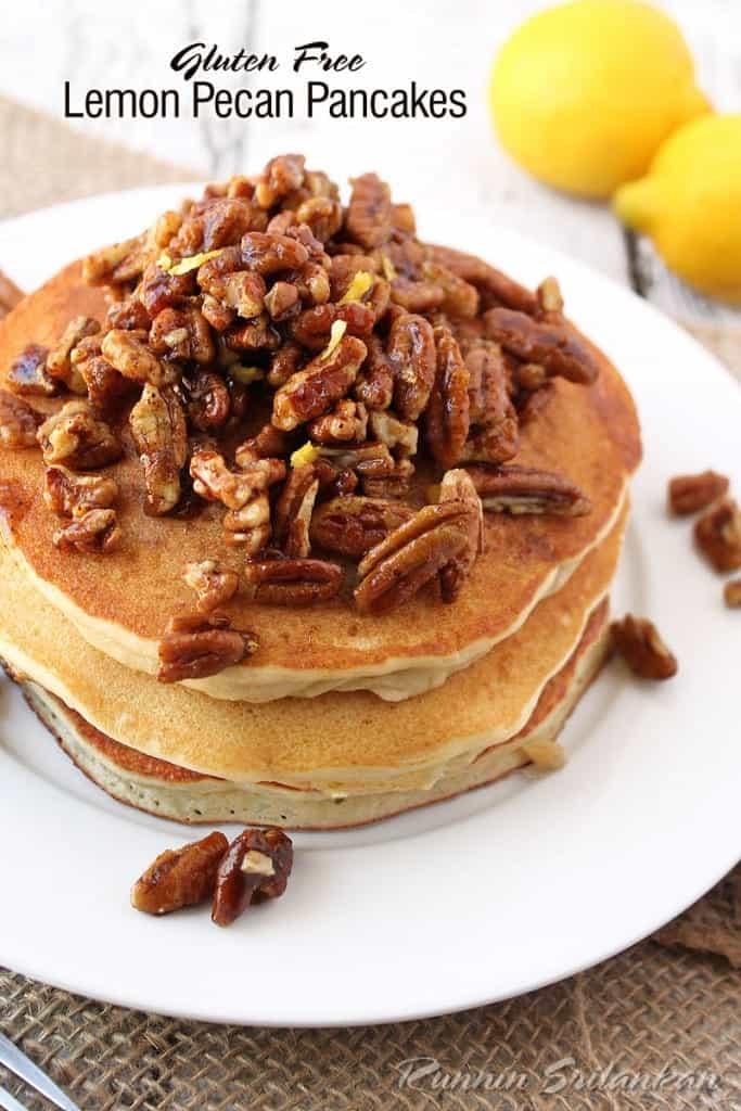 Lemon Pecan Pancakes With Silk Soymilk @RunninSrilankan