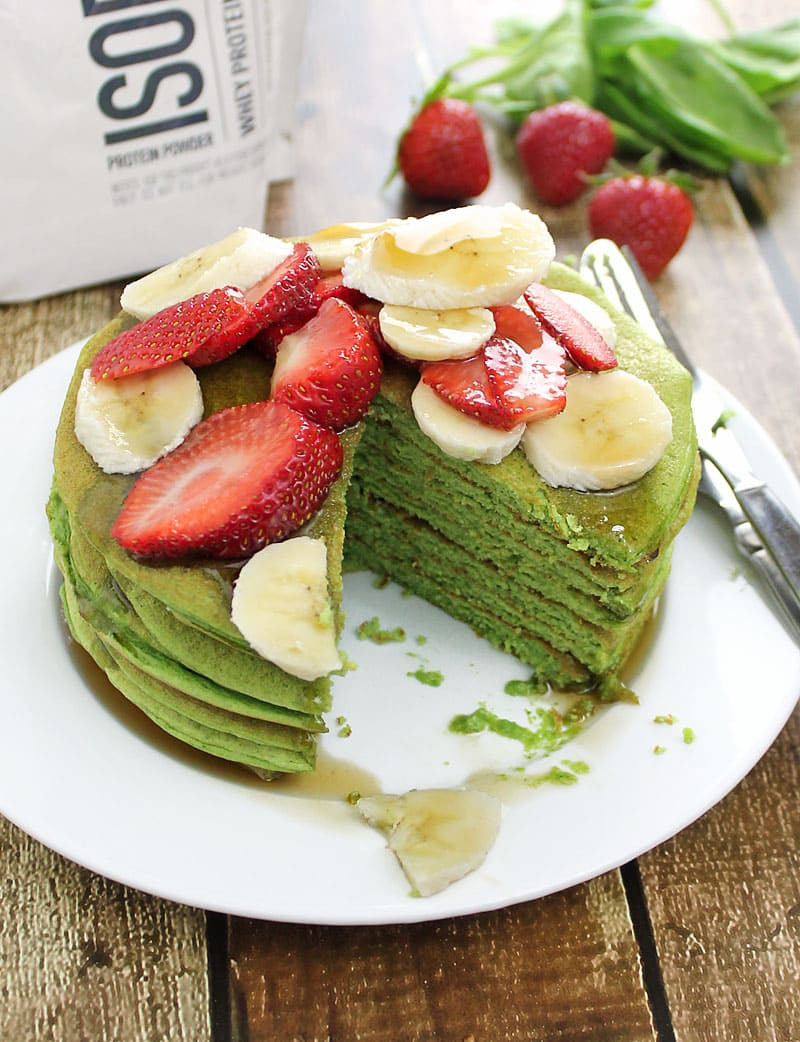 Spinach-Banana-Protein-Pancakes-Isopure-@RunninSrilankan