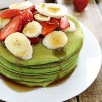 Spinach & Banana Protein Pancakes