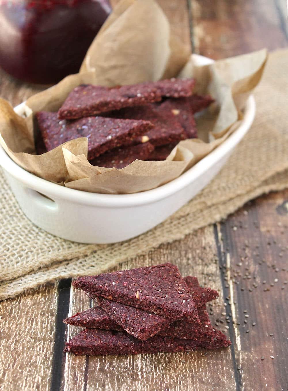 Buckwheat-Beet-Flax-Crackers-Recipe @RunninSrilankan