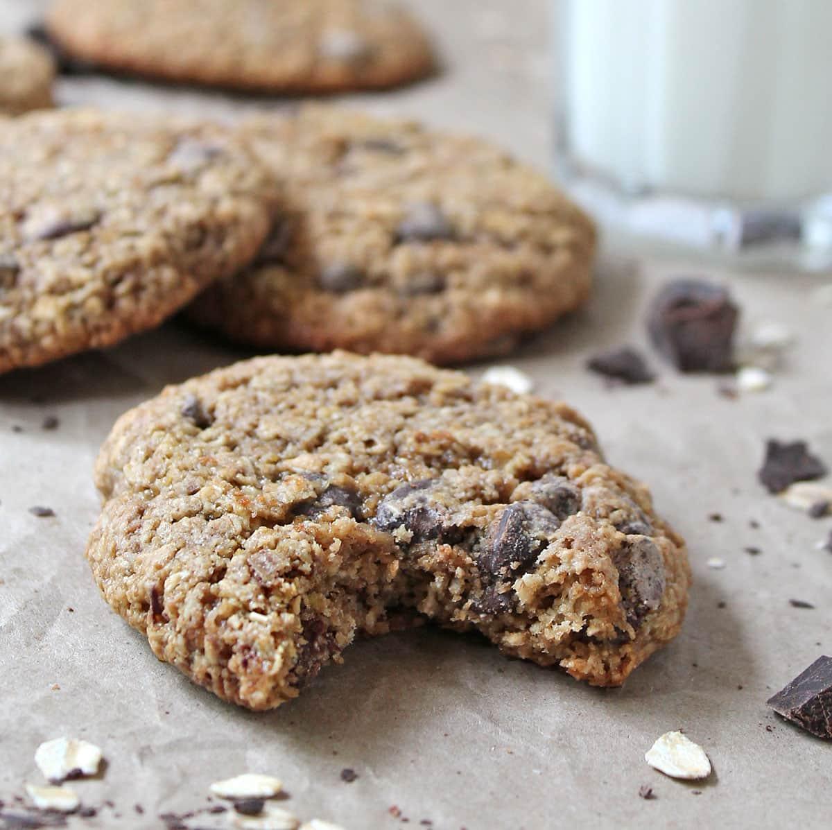 Gluten-Free Oatmeal Chocolate Chip Cookies @RunninSrilankan