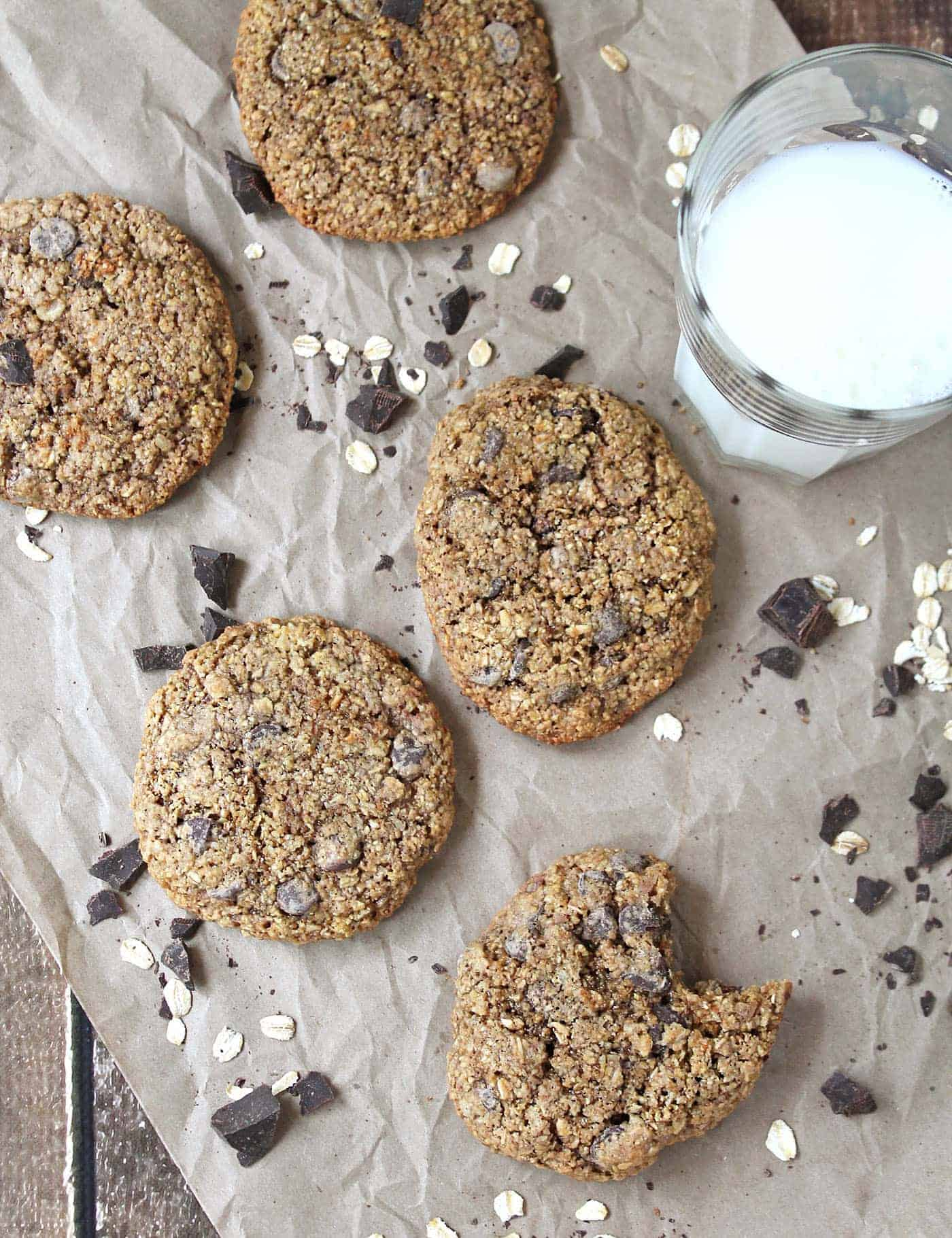 Oatmeal Chocolate Chip Cookies Gluten Free @RunninSrilankan