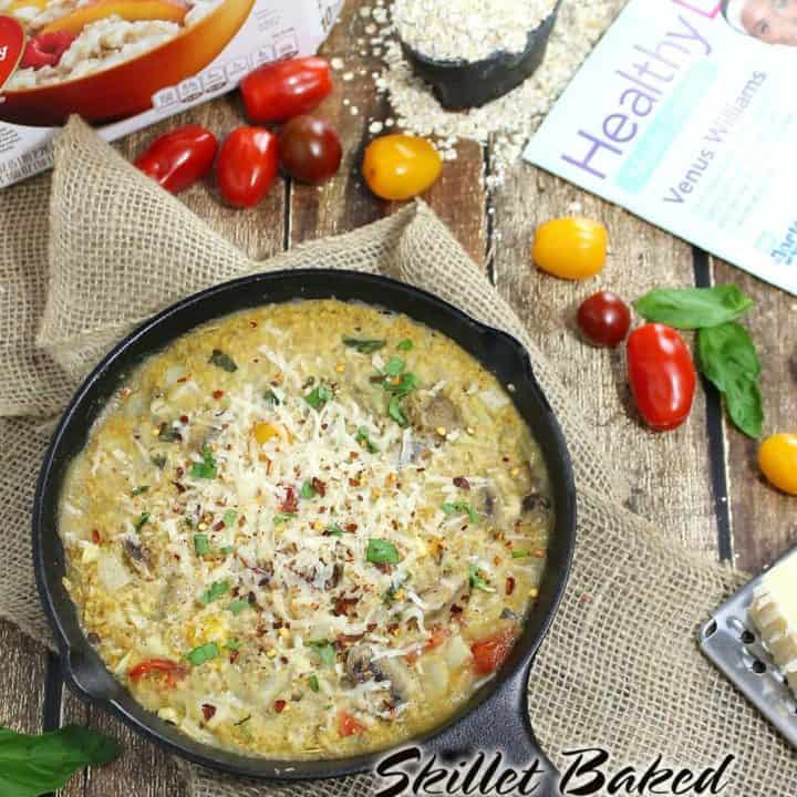 Skillet Baked Oatmeal Risotto