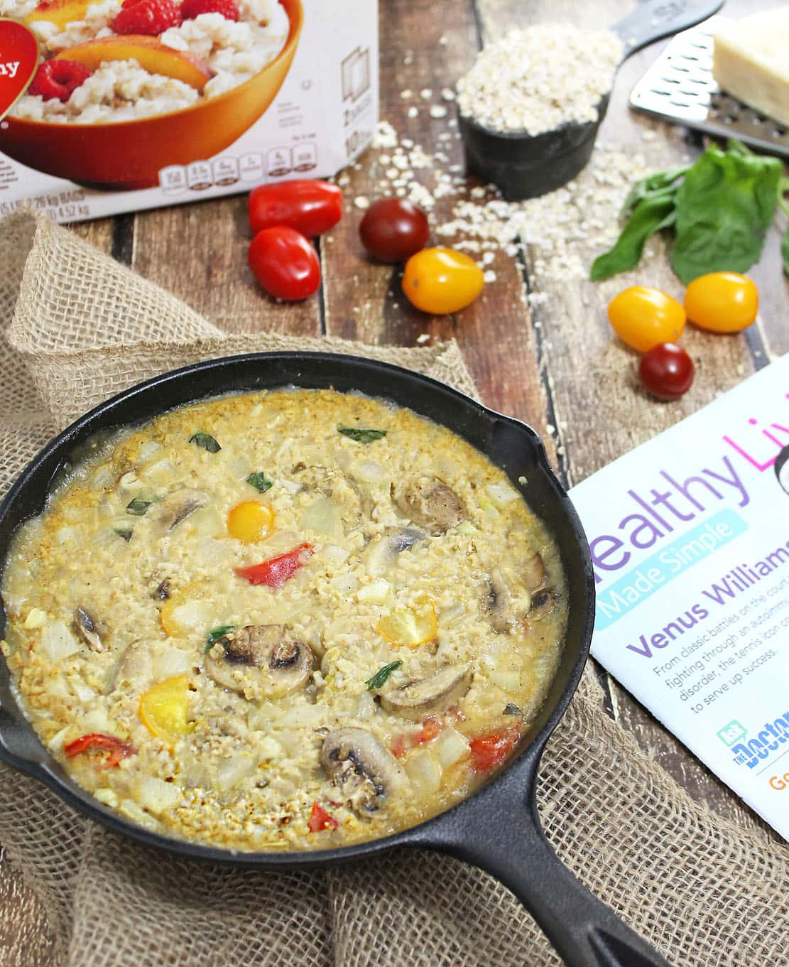 Tomato-Basil-Mushroom-Baked-Oatmeal-Risotto-@RunninSrilankan-#SamsClubMag