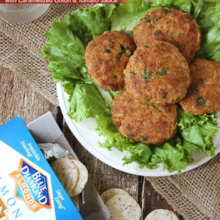 Almond Turkey Burgers With Caramelized Onion And Tomato Sauce @RunninSrilankan