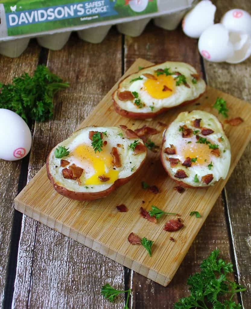 Bacon Egg Cheese Potato Skins @RunninSrilankan