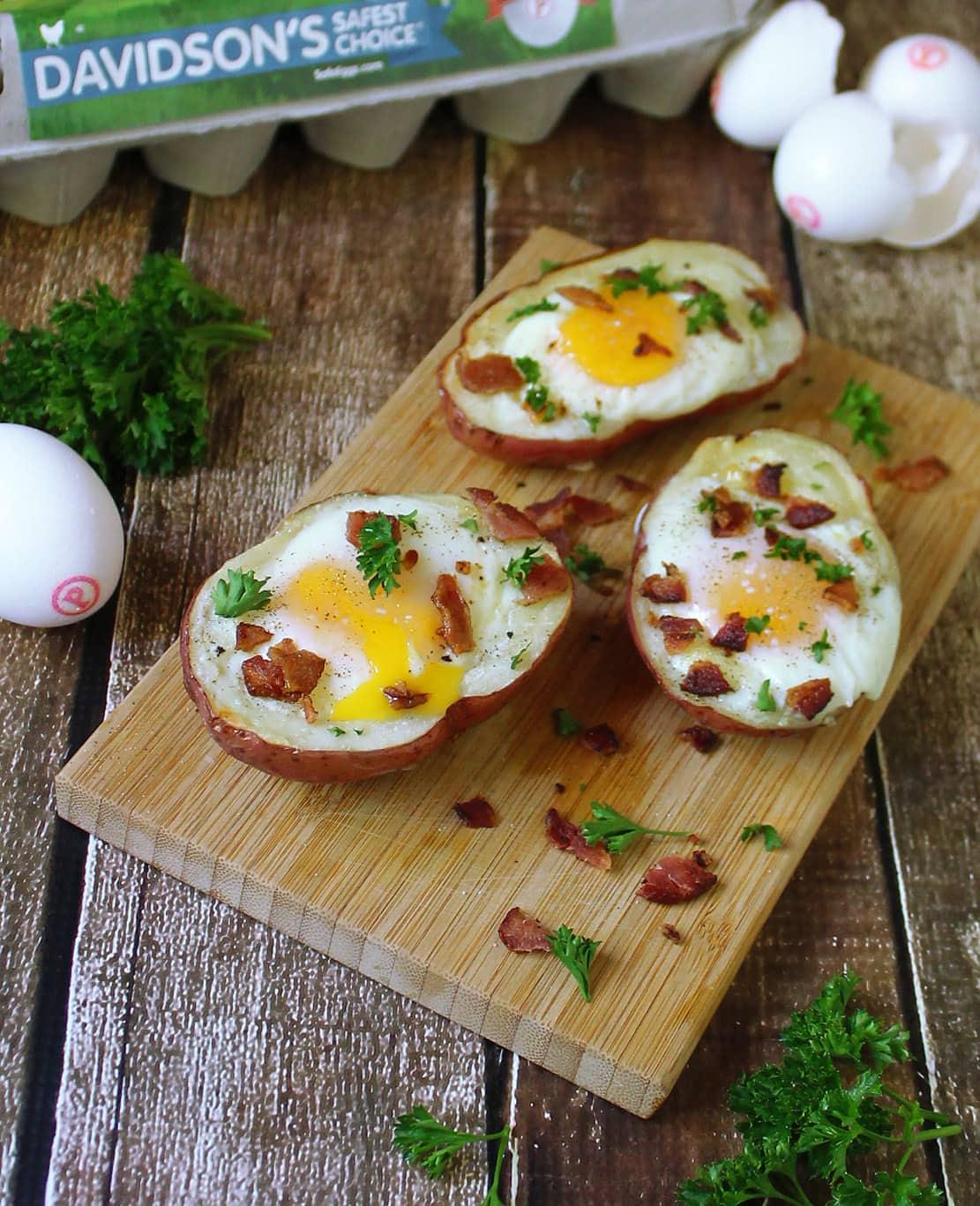 Bacon Cheddar Potato Skins - Juggling Act Mama