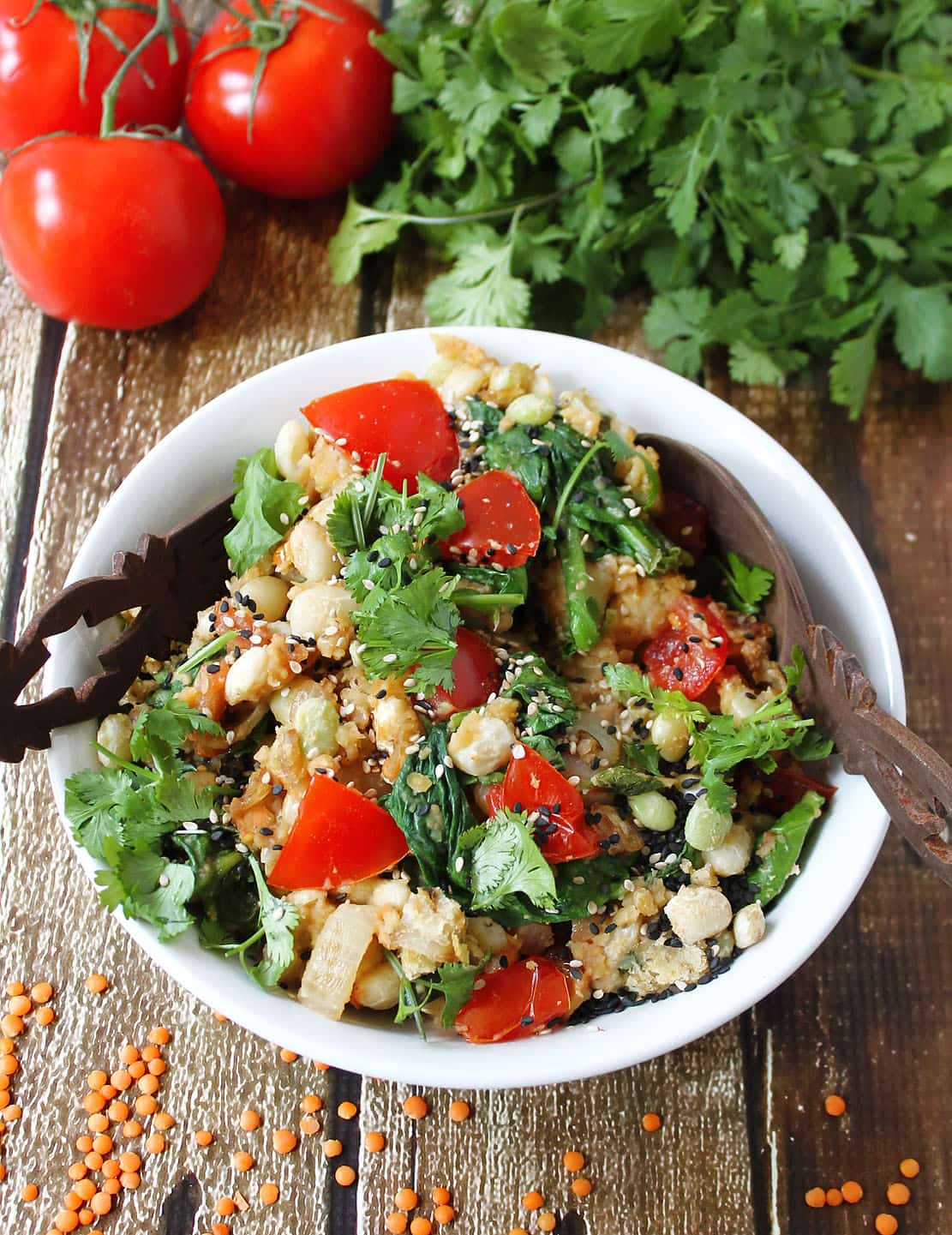 Warm Lentil Salad ggnoads