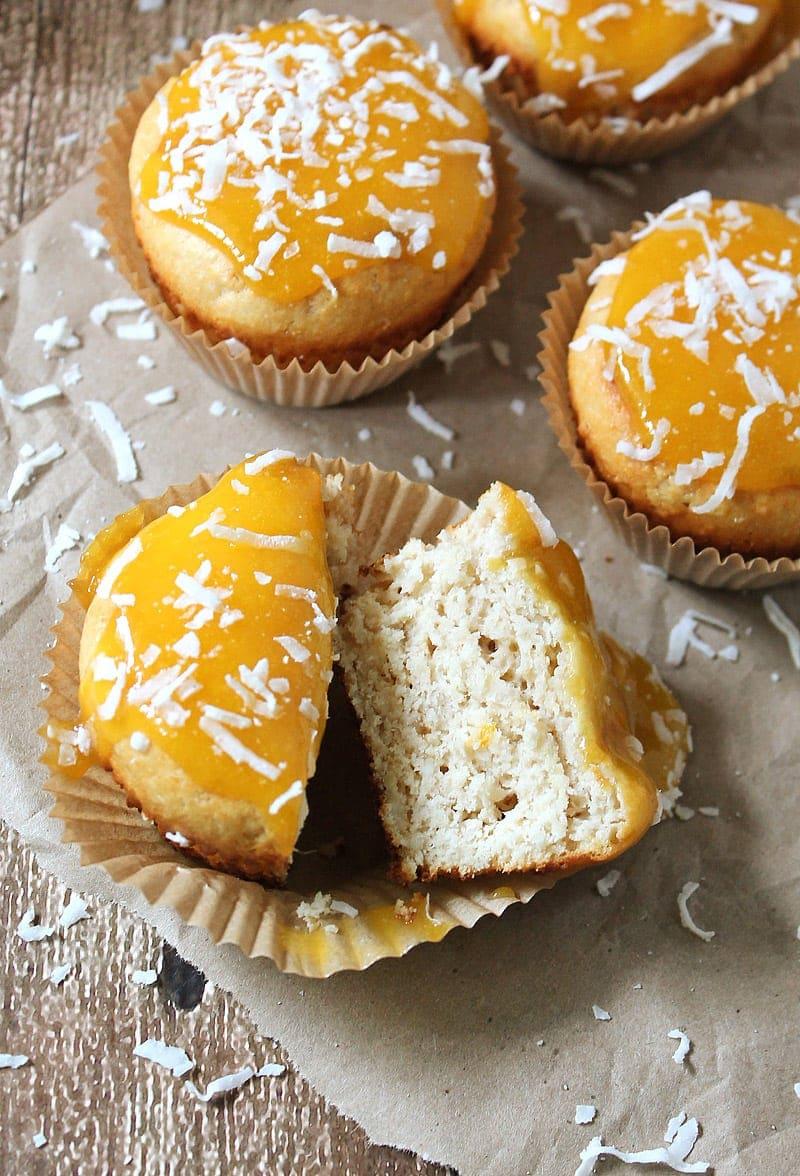 A Gluten Free Coconut Mango White Chocolate Cupcakes @RunninSrilankan