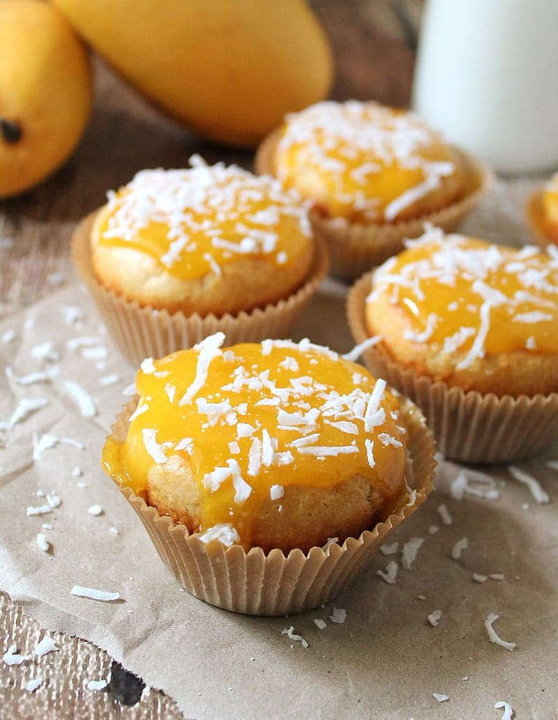 A Gluten Free Mango Coconut Cupcakes @RunninSrilankan