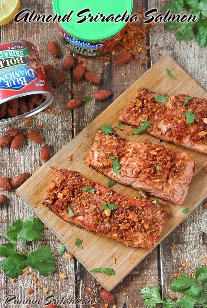 Blue Diamond Almond Sriracha Salmon