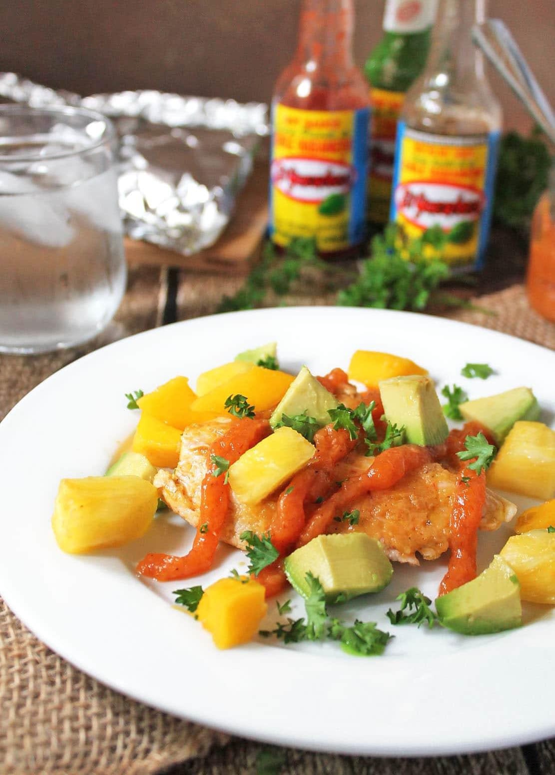 Chicken-With-Spicy-Pineapple-Mango-Sauce-#KingOfFlavor
