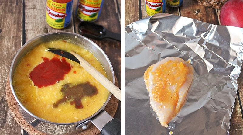 Mango Pineapple Spicy Marinade Prep