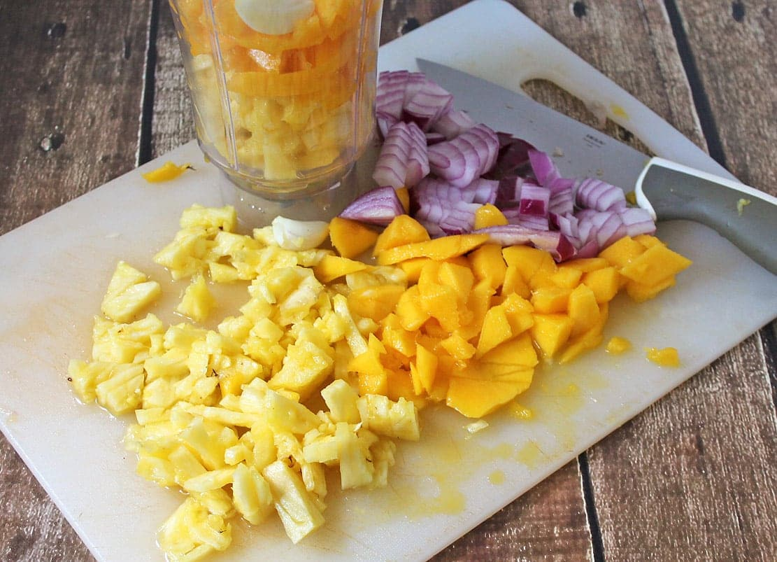 Mango Pineapple Spicy Marinade