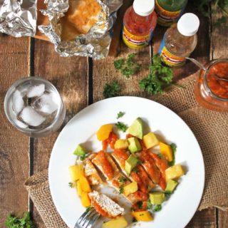 Spicy Pineapple Mango Chicken Packets #KingOfFlavor