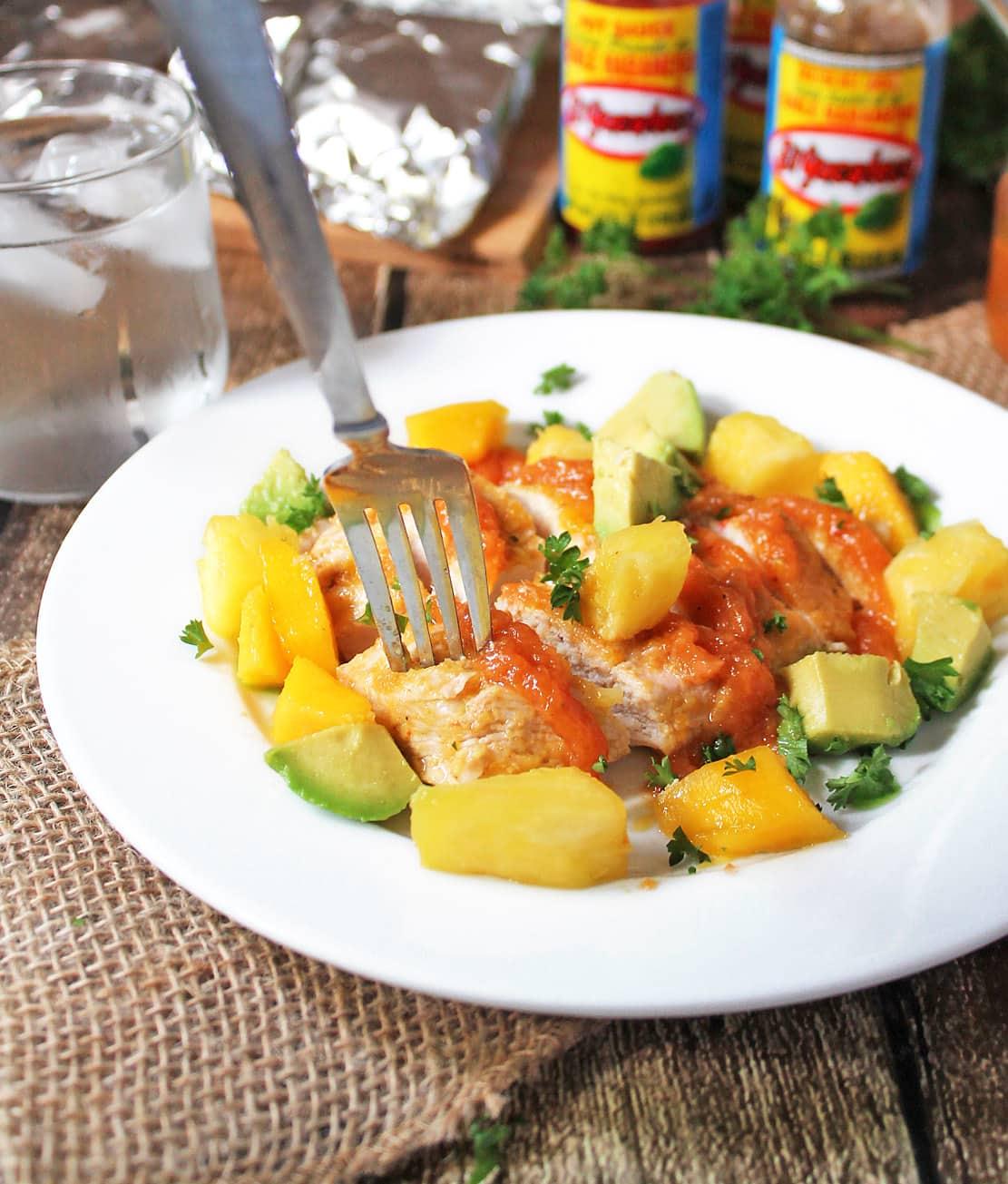Spicy Pineapple Mango Marinated Chicken #KingOfFlavor