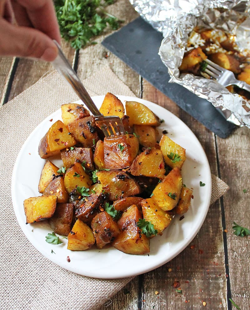 Spicy Deviled Potatoes