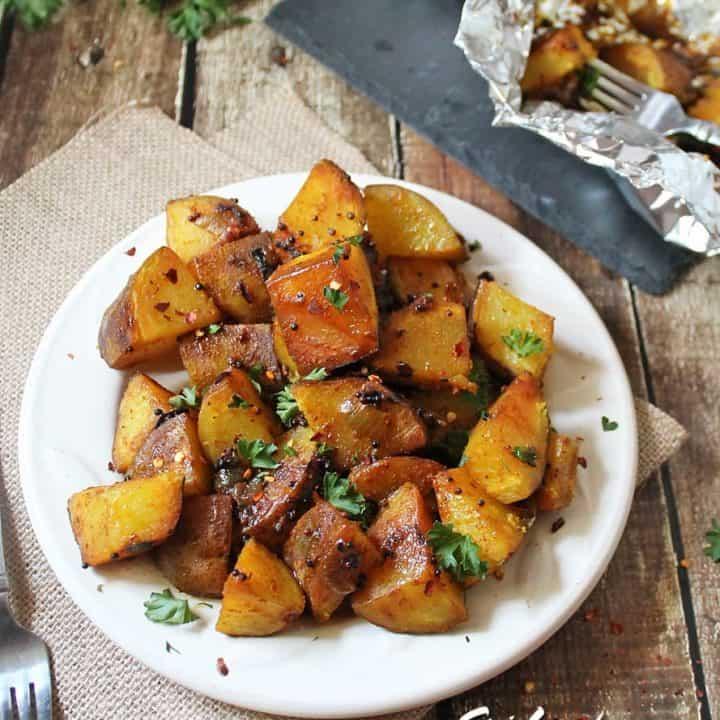 Srilankan Devilled Potatoes Ala Thel Dala @RunninSrilankan
