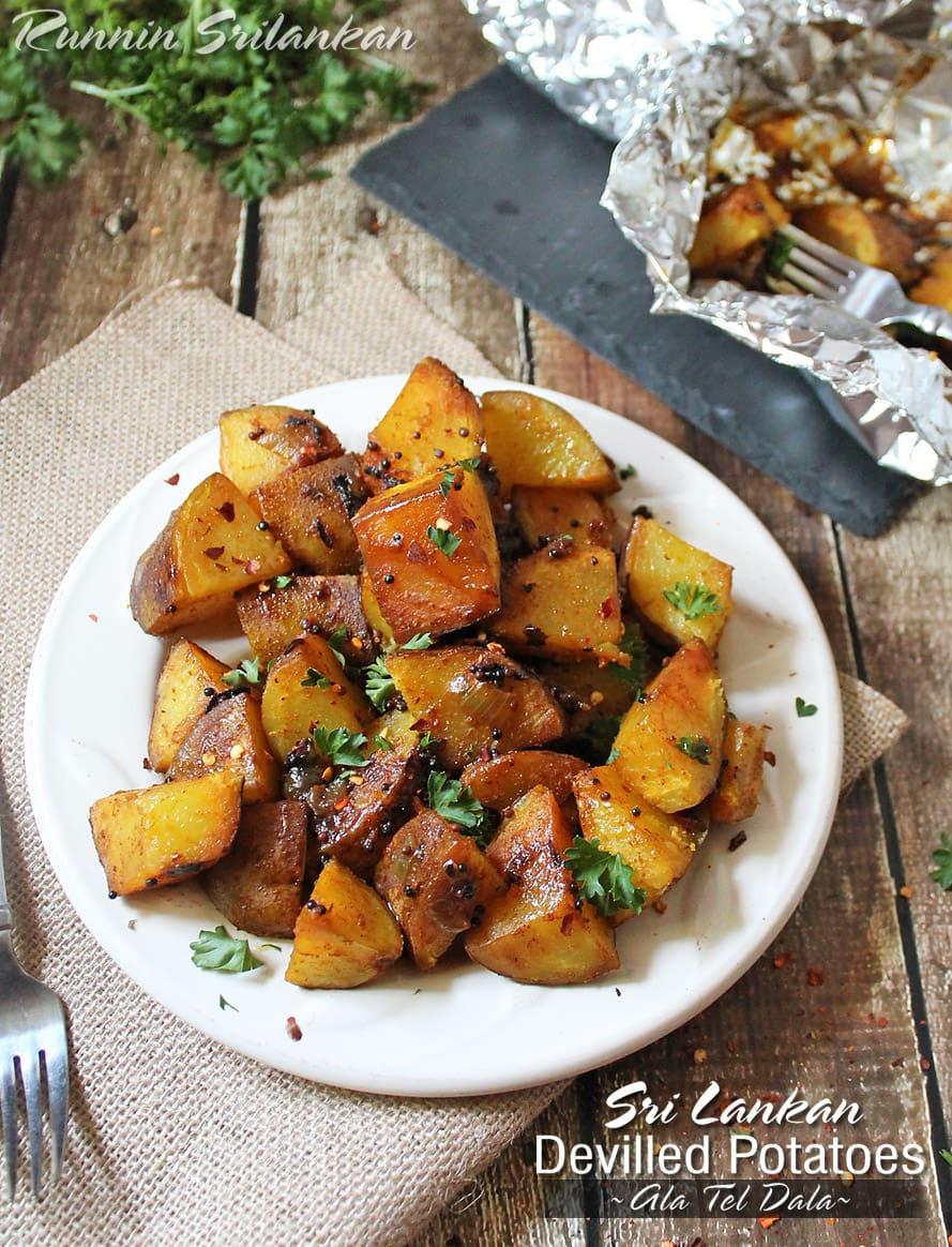 Srilankan Deviled Potatoes Ala Thel Dala @RunninSrilankan